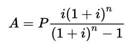 amoritization formula