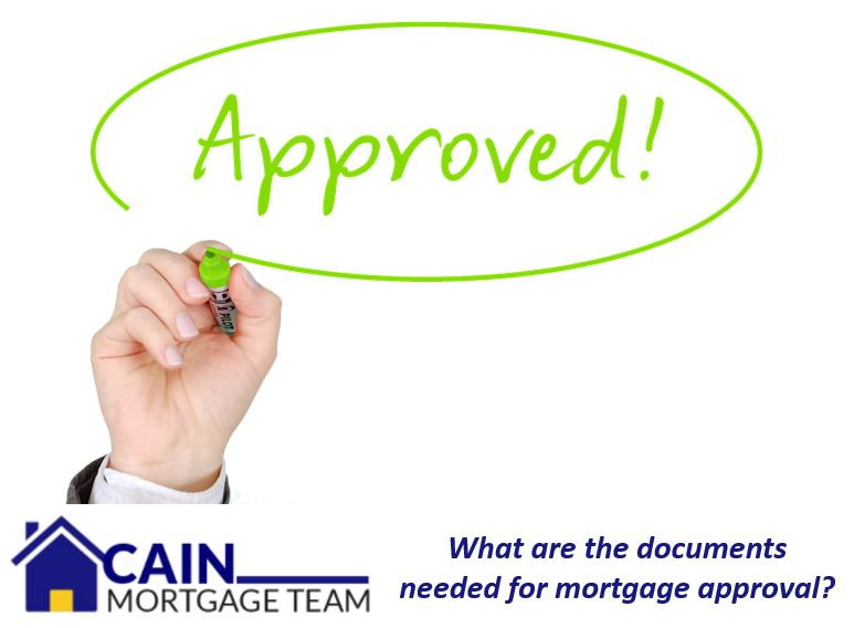 What are the documents needed for mortgage approval