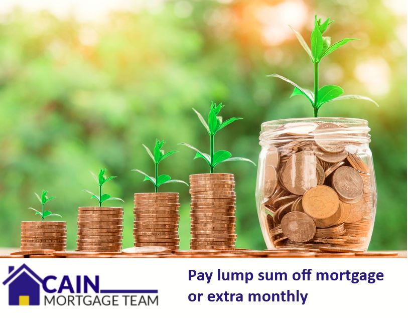 pay lump sum off mortgage or extra monthly